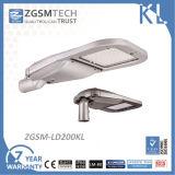 Zgsm 2017 i più nuovi 150W pieni l'indicatore luminoso di via di alluminio dell'alloggiamento LED della pressofusione con vetro Tempered 60W 90W 120W 150W 180W 200W