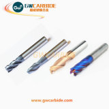 Carbide Flat Ball Nose End Mill 4 flûtes HRC 60