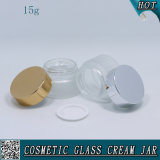 опарник 15ml 1/2 замороженный Oz косметический стеклянный для сливк стороны с крышкой металла