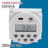 De Cn101A Digitas LCD da potência C.A. eletrônica programável 220V 16A do interruptor do temporizador semanalmente