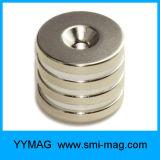 Magneti di anello del neodimio di alta qualità con il foro svasato