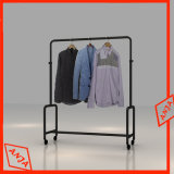 Rolling Garment Rack Laptop Clothes Hanger Rail Rack