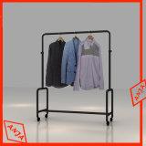 Estante portable del carril de la percha de ropa del estante de la ropa del balanceo