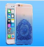 最新の勾配は浮彫りにするiPhoneのための透過ばらTPUの携帯電話の箱を6/6のプラスのアクセサリ(XSDD-024)