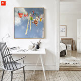 Karton-Wand-Abbildung-blauer Himmel-Kunst-Druck