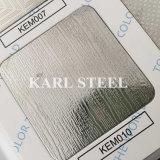 Feuille gravée en relief par Kem008 d'acier inoxydable de la qualité 304