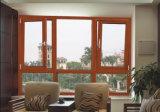 Guichet en bois en aluminium de tissu pour rideaux