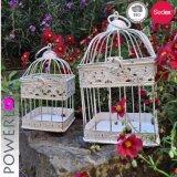 結婚の装飾的な錬鉄の鳥かごの蝋燭ホールダー