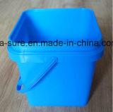 Ведро 2L квадрата качества еды PP/HDPE пластичное с ручкой