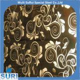 201/304/316L Plaat van het Roestvrij staal van de ets de Gouden Zwarte Gekleurde voor Decoratief