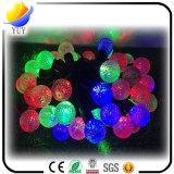 Lumières de Noël colorées de vacances de décoration extérieure de chaîne de caractères de bille de DEL