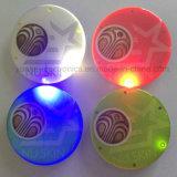 Botón caliente del Pin de la venta que contellea LED con insignia impreso (3569)