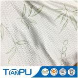 Transpirable Jacquard hilados de distintos colores Tela de bambú para el colchón