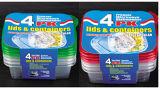 La plastica di Microwavable divisa due scompartimenti toglie il contenitore di alimento