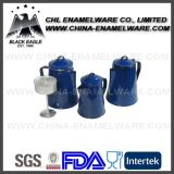 Food Safety Certified Blue Color Esmalte Coffee Pot para Camping