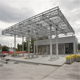 Edificio de acero de la gasolinera del marco del braguero