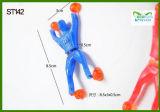 Brinquedos pegajosos por atacado da oferta TPR da fábrica para homens pegajosos da parede dos brinquedos engraçados os mais baratos das crianças