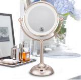 Composição frente e verso do espelho de 7 polegadas com bateria dobro
