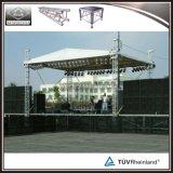 屋外コンサートのアルミニウム携帯用段階のトラスシステム