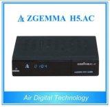 Afinadores gêmeos Zgemma H5 dos software DVB-S2+ATSC Hevc/H. 265 oficiais originais. Receptor da tevê da C.A. Digital