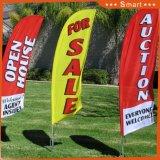 Kundenspezifische Förderung-Ereignis-Feder-Fliegen-Fahne