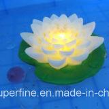 Flackernde im Freien wasserdichte batteriebetriebene Lotos-Blume des Plastikled