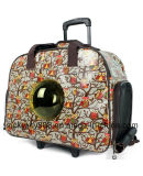 Wheels Trolley Space Capsule Double Shoulder Pet Dog Carrier Backpack