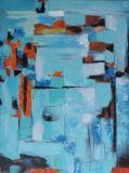 Pintura al óleo abstracta hecha a mano determinada de la alta calidad
