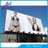 Bandeira do cabo flexível do anúncio ao ar livre com lustroso elevado