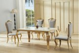 Foshan Congling 스테인리스 식탁 및 의자 가구 세트