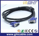 モニタかProjetorのための2mの高品質の男性か男性VGAケーブル3+4