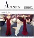 Hüllen-langes Abend-Kleid für Wedding mit Tief-Rückseite