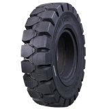 6.00-9 Pneus Empilhadeira Solida, contenido de goma del neumático 600-9 sólido de la carretilla elevadora alto