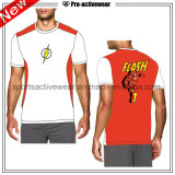Soem-konkurrenzfähiger Preis-nach Maß runde Stutzen-Mann-T-Shirts