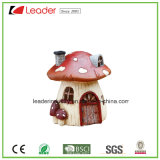 Polyresin Hot Selling Mushroom Toad House Statue Garden Decoration