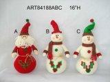 Foglio Santa dell'agrifoglio e regalo della decorazione di natale del pupazzo di neve