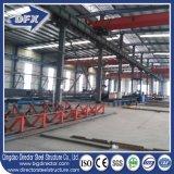Almacén de almacenaje prefabricado confeccionado de la vertiente del almacén de la estructura de acero