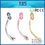 Кабель кабеля данным по USB франтовского телефона продуктов 1m Hotselling поручая плоский электрический