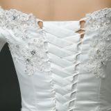 アップリケの肩の夜会服のウェディングドレスを離れて優雅