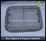 Roestvrij staal 304 Geweven Manden van de Desinfectie van het Netwerk Medische
