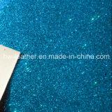 Couro sintético do plutônio do Glitter para senhoras e sapatas Hw-844 das crianças