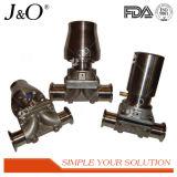 Válvula de diafragma pneumática sanitária do aço inoxidável
