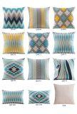 Almohadillas decorativas baratas impresas lino del algodón para el adornamiento de la base