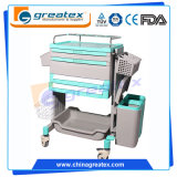 Top Class Medical ABS Wireless Nursing Trolley Medical Computer Cart (GT-ENT102)