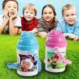 Bottiglia di acqua resa personale dei bambini del polimero con stampa della pressa di calore