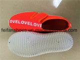 Chaussures de sport de chaussures de chaussures de toile d'injection d'enfants (FFZL1031-02)