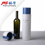 Caso de presente de vinho cilíndrico de papel rígido de jóia elegante