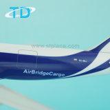 B787-8f 1/200 37cm Air Bridge Cargo Airlines Cadeau de souvenir personnalisé