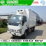 Caminhão Refrigerated Van do congelador do refrigerador de LHD Isuzu 4X2 5tons
