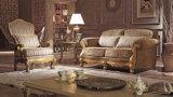 Stile classico americano stabilito del sofà dell'hotel con tessuto ed il blocco per grafici di legno